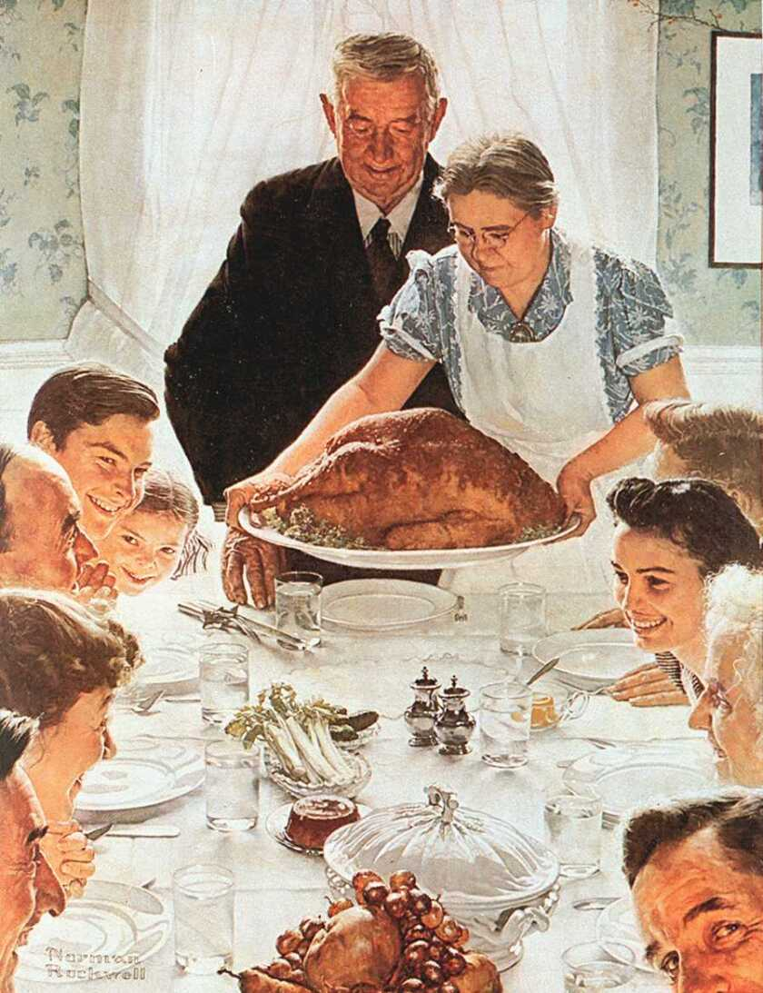 "Norman Rockwell's painting ""Freedom From Want"""