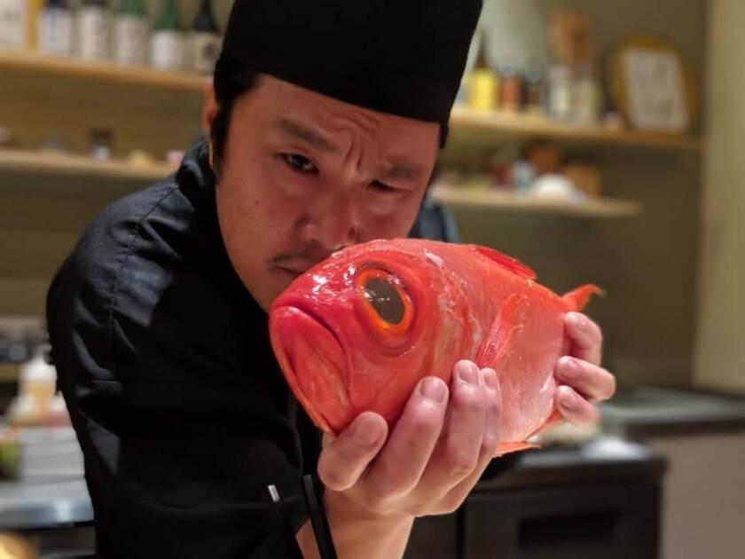 2021年9月28日ミシュランの星を受けたUniversity Heights寿司レストランSoichiのSoichi Kadoya。