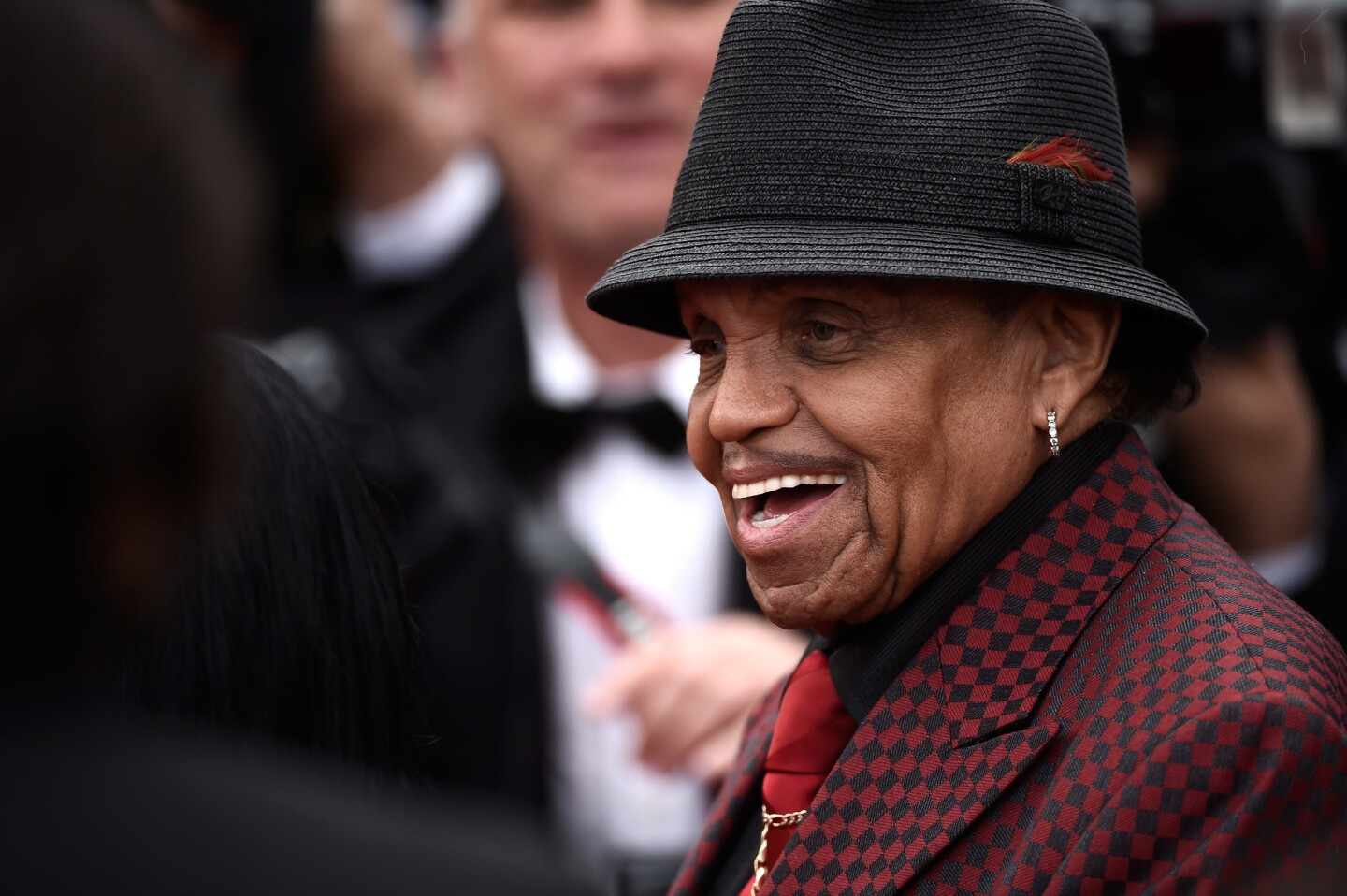 """Joe Jackson attends the premiere of """"Sicario"""" at the 2015 Cannes Film Festival in France."""