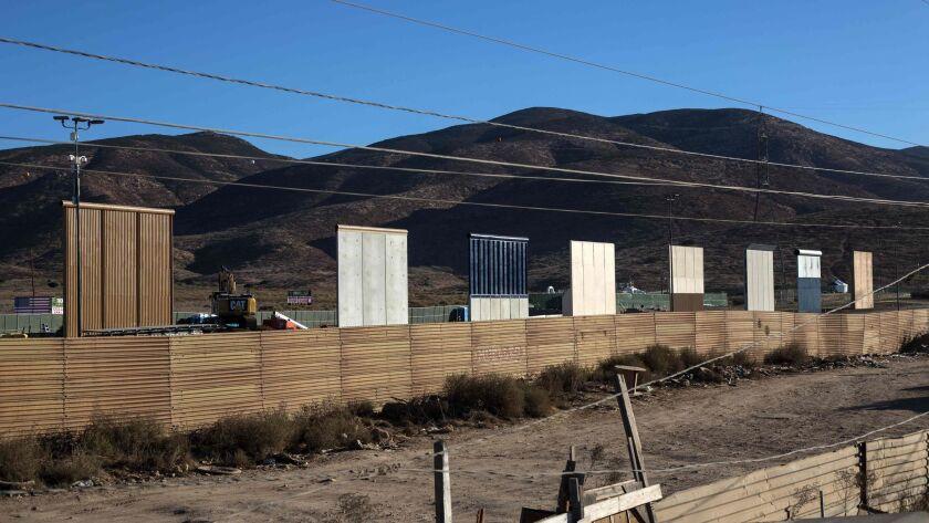Prototypes of President Trump's U.S.-Mexico border wall.