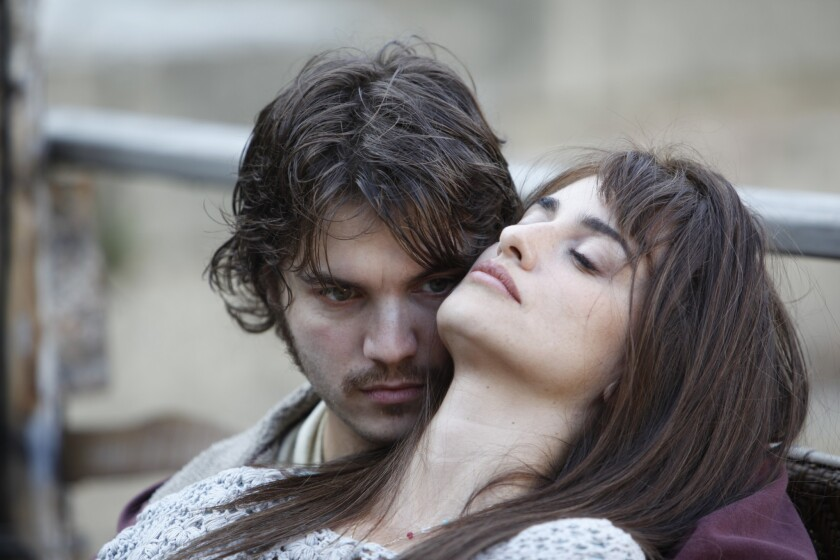 "Emile Hirsch and Penelope Cruz in a scene from ""Twice Born."""