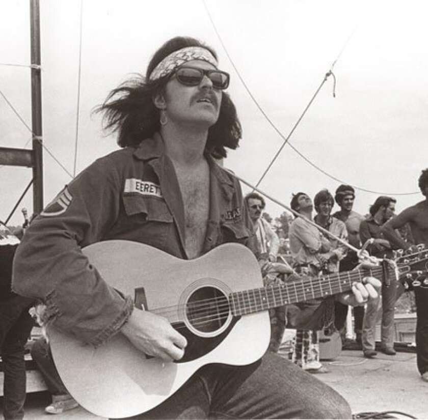 Country Joe McDonald credits his 1969 Woodstock performance for his enduring musical career.
