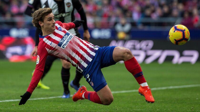 Atletico Madrid's Antoine Griezmann has nine goals and seven assists this season.