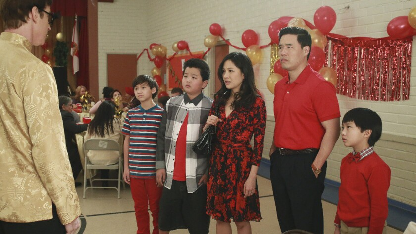 """In Tuesday night's episode of """"Fresh Off the Boat,"""" the Huang family tries to figure out how to mark Chinese New Year in Orlando, Fla."""