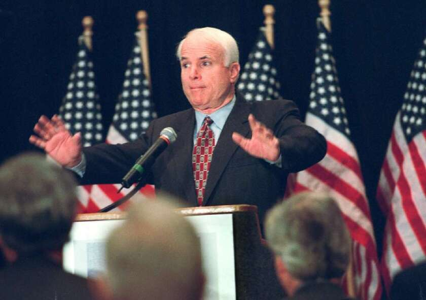 These reform ideas are even older than he is: Sen. John McCain (R-Ariz.) pushed for malpractice reform and interstate health insurance sales during his presidential campaign appearances, including this one in 1999.