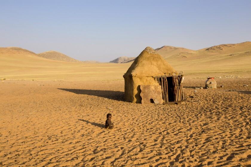 A Himba tribal hut in Hartmann's Valley, near Serra Cafema camp.