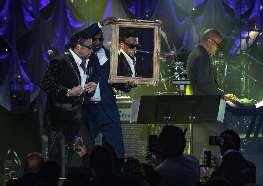 BEVERLY HILLS, CA - FEBRUARY 9, 2019: Morris Day checks himself out in the mirror while performing w