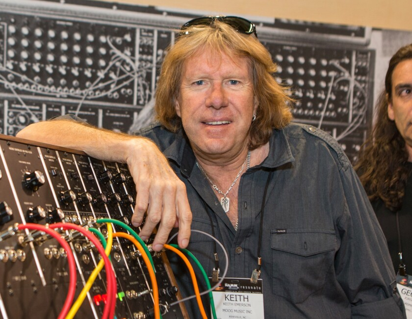 Keith Emerson attends the National Assn. of Music Merchants show in Anaheim on Jan. 23, 2015.