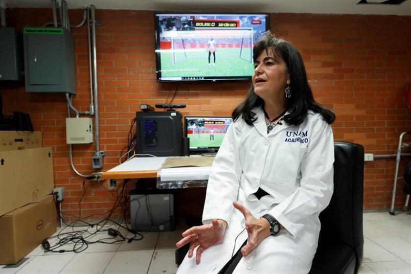 La investigadora del Instituto de Fisiología Celular de la Universidad Nacional Autónoma de México (UNAM), Ana María Escalante, habla con la agencia Efe ayer jueves, 14 de marzo de 2019, en Ciudad de México (México). EFE