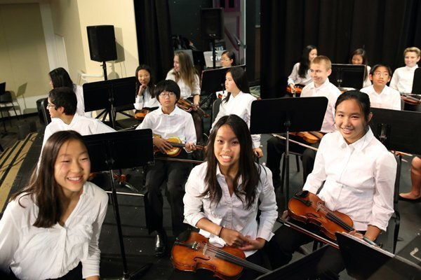 Members of the Carmel Valley Middle School Orchestra
