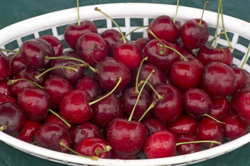California cherries are in season.