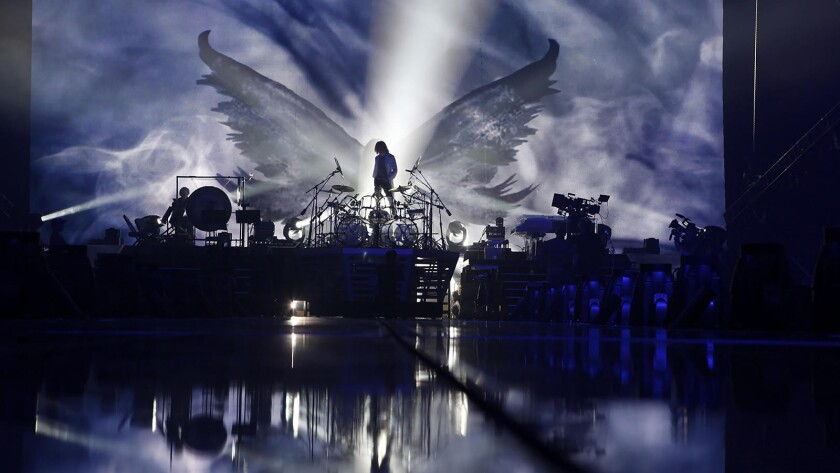 """Drummer Yoshiki is shown in the documentary """"We Are X."""""""