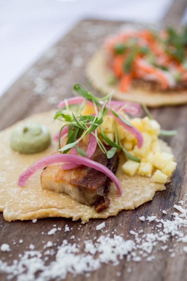 One of the seasonal tostadas at Pueblo. (Courtesy photo)