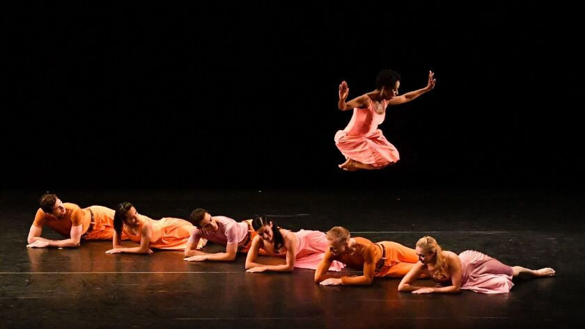 "The Paul Taylor Dance Company performs ""Esplanade,"" one of three pieces on the weekend program at the Wallis Annenberg Center for the Performing Arts in Beverly Hills."