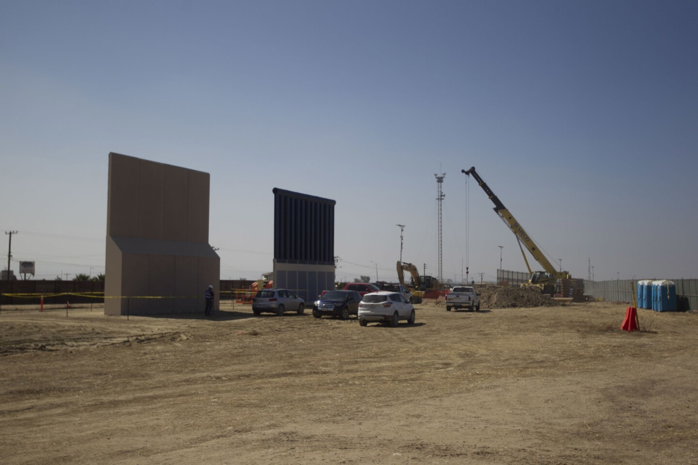Border wall prototypes October 13