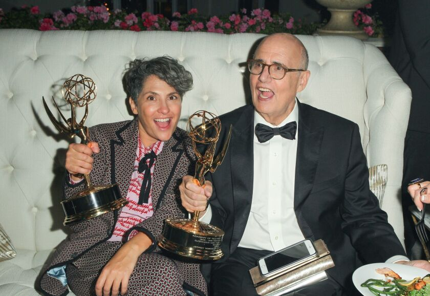 Jill Soloway and Jeffrey Tambor.