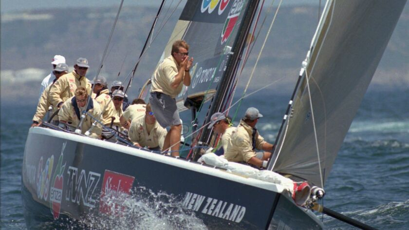 New Zealand's Black Magic competes in the America's Cup in 1995.
