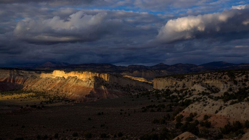 The sun sets in the Grand Staircase-Escalante National Monument, Utah on Sept. 28.