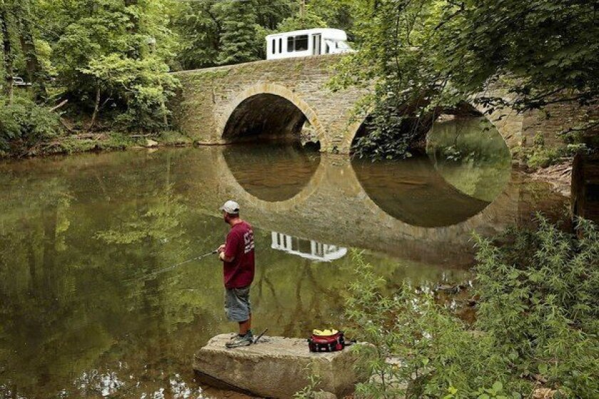 One of Philadelphia's many historic bridges is on Bell's Mill Road over Wissahickon Creek. Across the U.S., thousands of bridges are in need of repair, but the money to fix them isn't in the budget. In Los Angeles County alone, 16 bridges are in the highest-risk category.