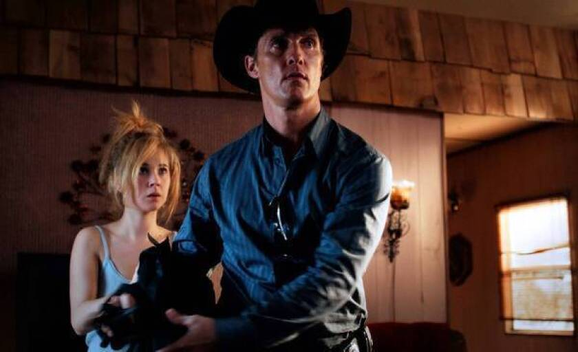 "Juno Temple and Matthew McConaughey in ""Killer Joe."""