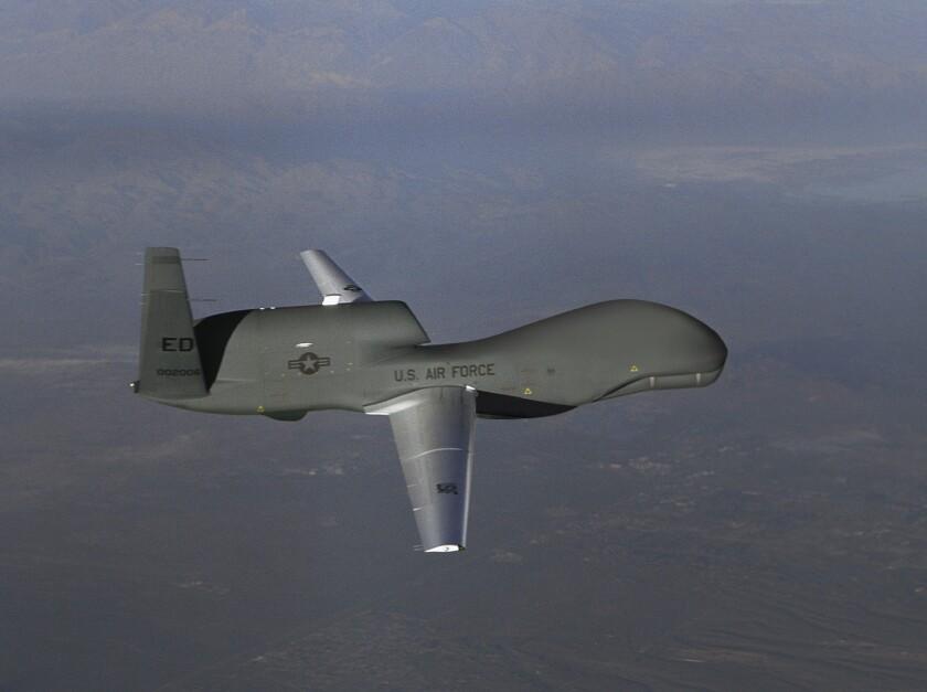 Northrop Grumman's RQ-4 Block 20 Global Hawk unmanned aircraft.