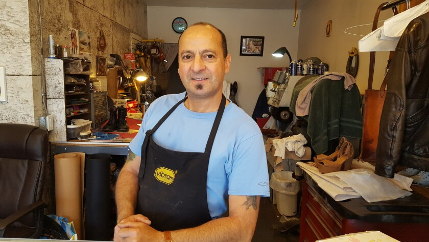 Working with leather comes easy to La Jolla shoemaker Mohammed Alami
