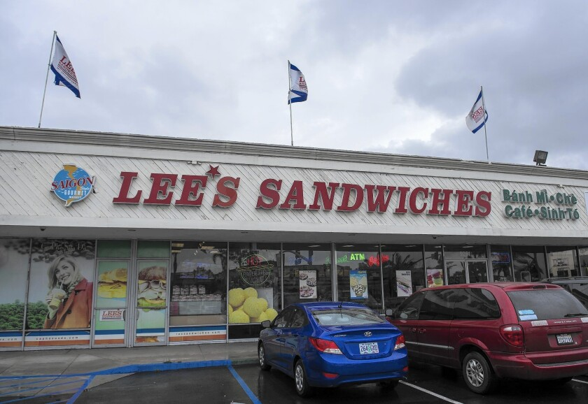 The Lee's Sandwhich store in Westminster.