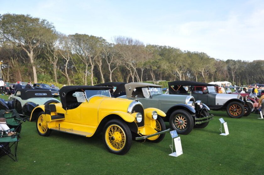 """This rare 1920 Kissel Model 6-45 """"Gold Bug"""" Speedster is one of the highlights from the Roaring '20s that Jay Gatsby probably would have driven, according to Hagerty Insurance, a classic car insurance and valuation company."""
