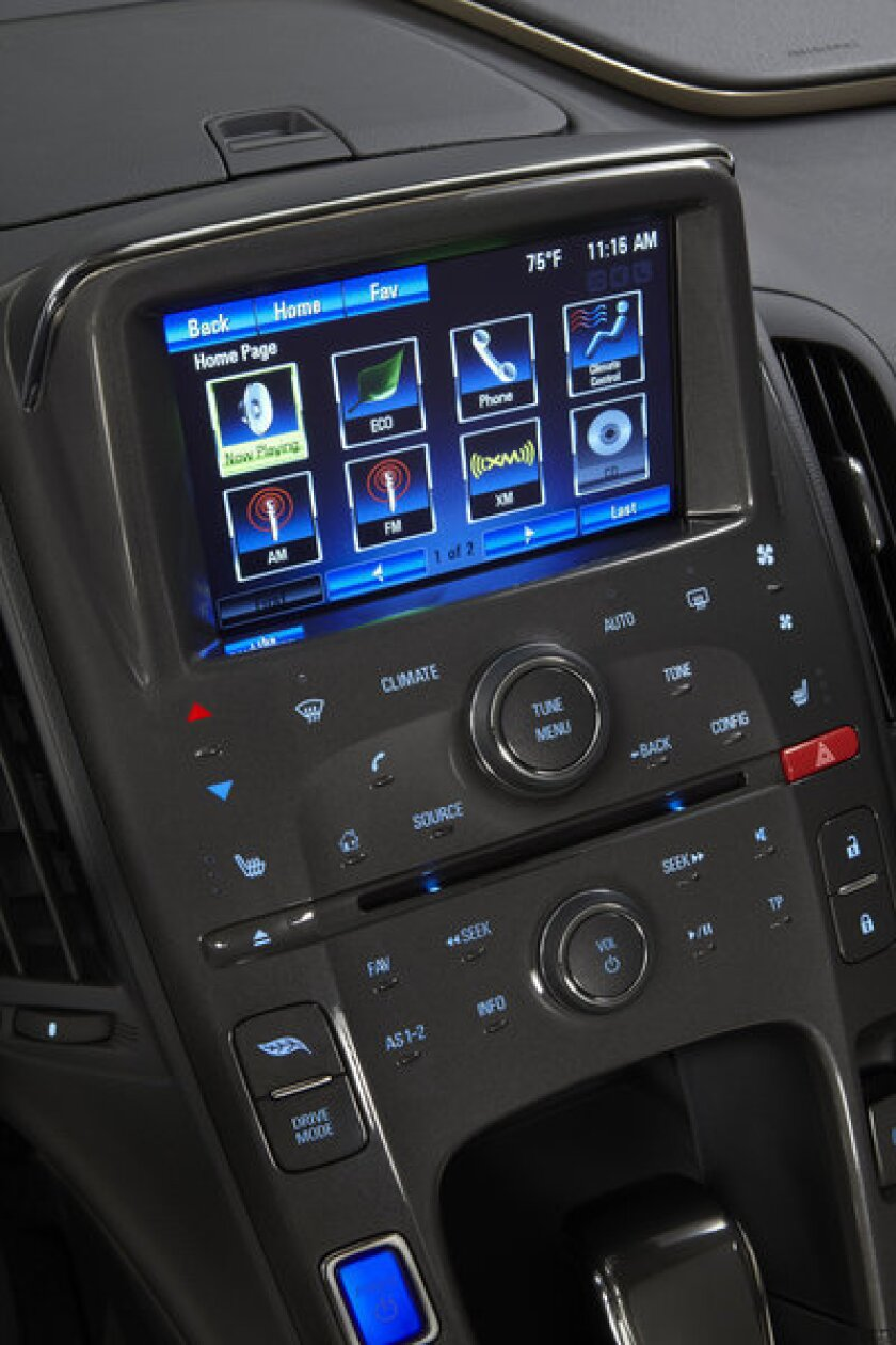 The Chevy Volt's high-tech interior (it's not as complicated as it looks).