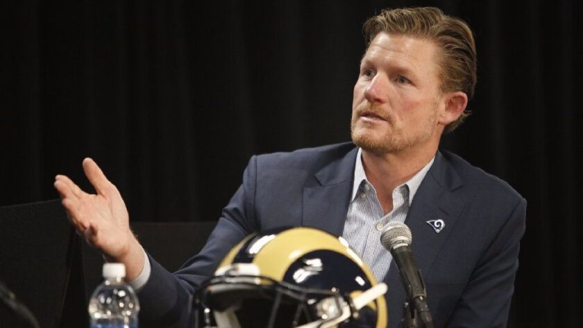 "General Manager Les Snead says of the Rams' future: ""There's an urgent determination and drive to get this thing to where we all want it to be."""