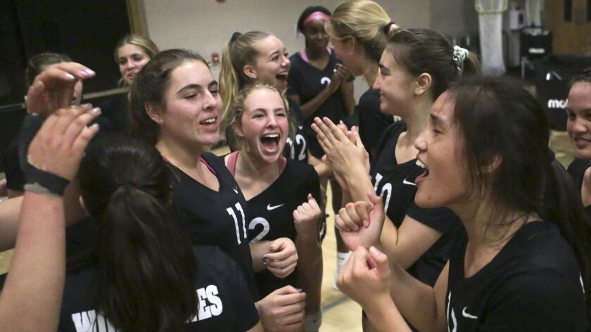 Westview players cheer their win over Eastlake in the San Diego Section Division I semifinals Tuesday night.