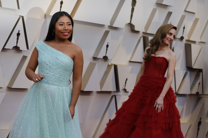 HOLLYWOOD, ?CA ? February 24, 2019 - Best Actress nominee for 'Roma' Yalitza Aparicio (L) and Best