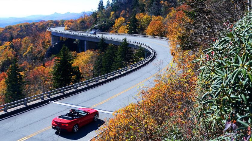 Linn Cove Viaduct, Grandfather Mountain, along the Blue Ridge Parkway in North Carolina.