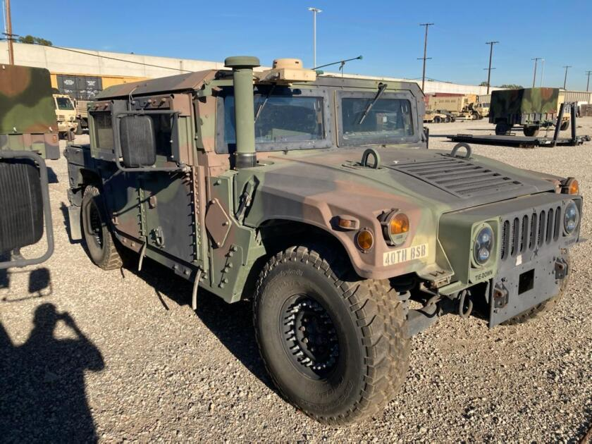 The FBI is on the lookout for this California National Guard Humvee stolen from Bell.