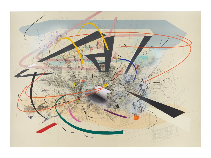 "Julie Mehretu, ""Untitled 2,"" 2001, ink and acrylic on canvas"