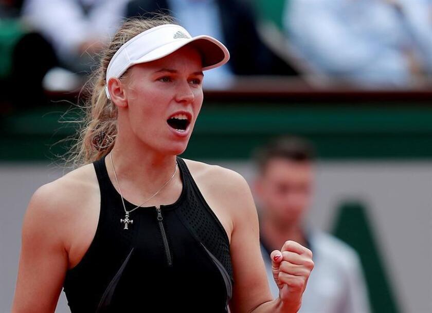En la imagen, la tenista danesa Caroline Wozniacki. EFE/Archivo