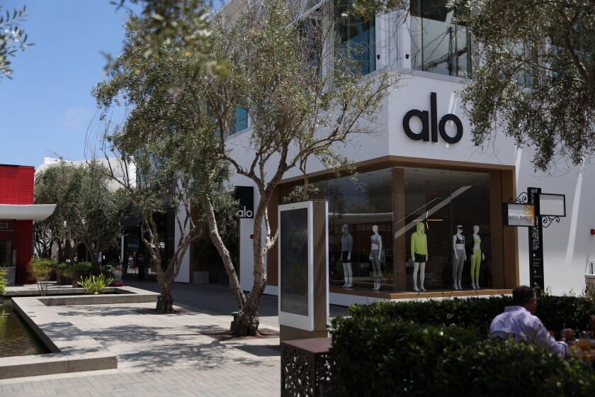 Alo's new store at Westfield UTC opens Wednesday.