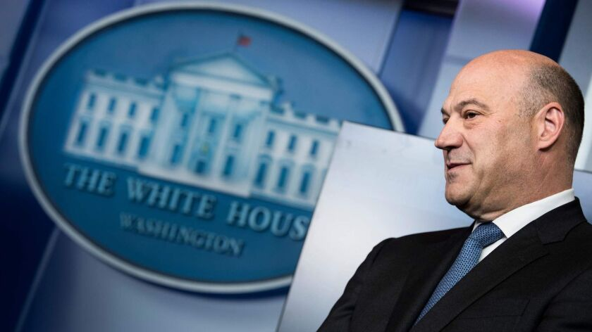 Gary Cohn, who left his job at the White House this year, has been rumored to be a pick to replace Wells Fargo CEO Timothy Sloan.