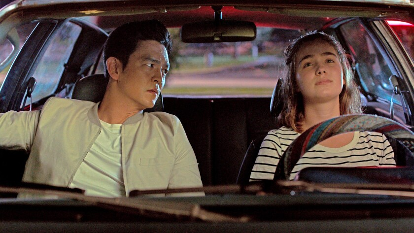 "John Cho and Haley Lu Richardson in the film ""Columbus."" Credit: Elisha Christian / Superlative Film"