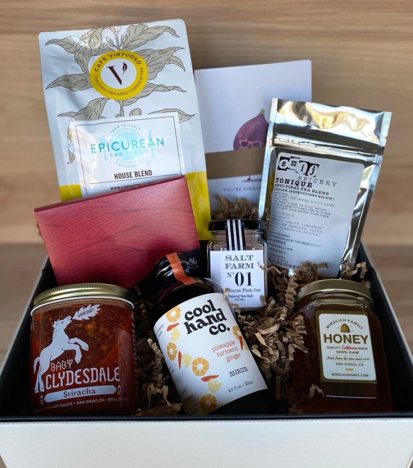 Epicurean San Diego's home-delivered Sunshine Box features food from local artisans.