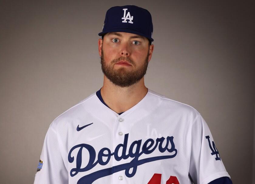 Dodgers pitcher Jimmy Nelson.