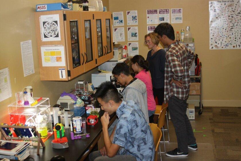 Lab activities at La Jolla Library