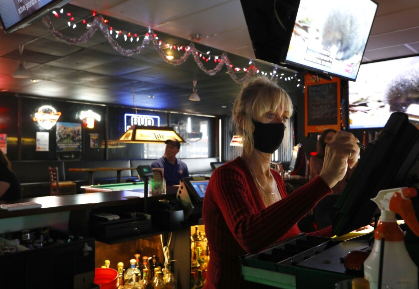 Bartender Penny Clack, works at Carriage House bar in Kearny Mesa.