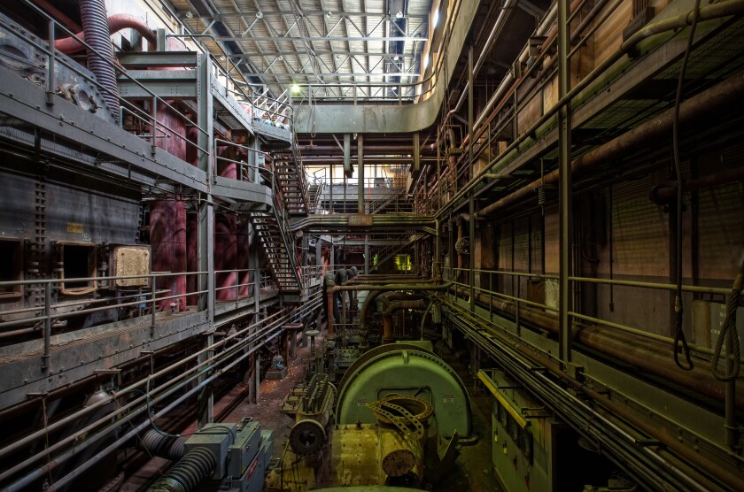 The basement of the Frank R. Philips Power Station in South Heights, Pa., was as much of an industrial masterpiece as the turbine hallway above it.