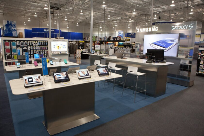 A Samsung Experience Shop inside a Best Buy store. Hundreds are to follow.