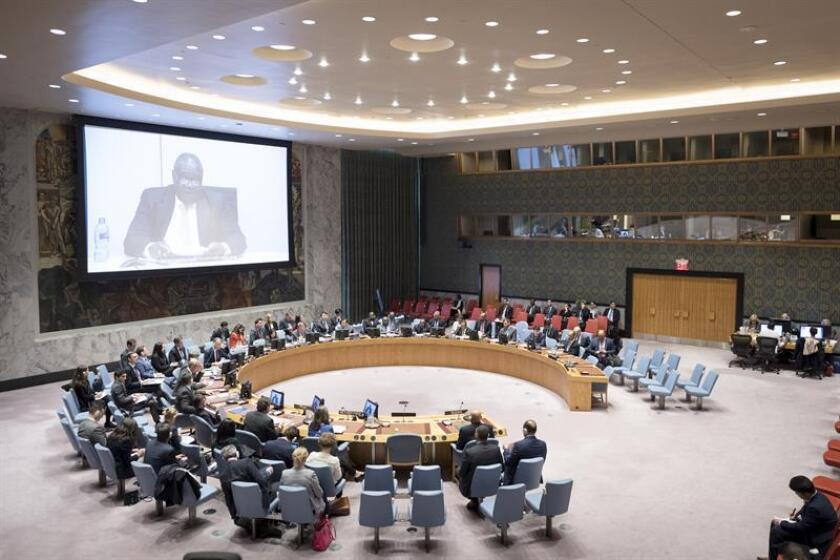 Fotografía cedida por la ONU muestra una vista general del pleno del Consejo de Seguridad durante una reunión sobre la situación de Sudán y Sudán del Sur hoy, lunes 22 de octubre de 2018, en la sede del organismo en Nueva York (EE.UU.). EFE/Rick Bajornas/ONU/SOLO USO EDITORIAL/NO VENTAS