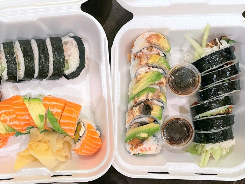 Heemo Sushi assorted sushi at half off.