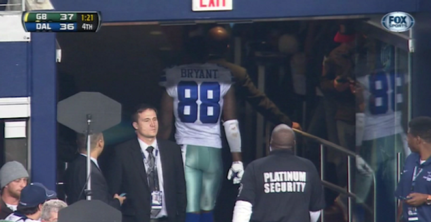 best cheap 26d66 102a8 Cowboy Dez Bryant says he left game early so no one would ...