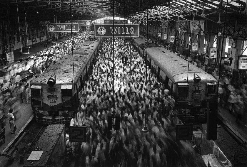 "Sebastião Salgado's ""Church Gate Station, Western Railroad Line, Bombay, India."""