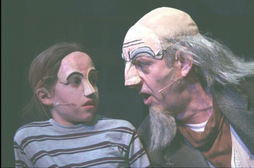 """Sean Eaton, left, and Tom Ashworth are the Boy and the Professor in  """"The Comical Tragedy or Tragical Comedy of Mr. Punch."""""""
